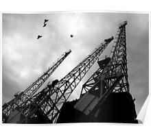 Constitution Cranes.  Poster