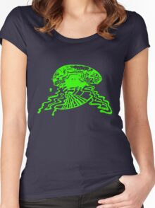 Brain storm - Green Women's Fitted Scoop T-Shirt