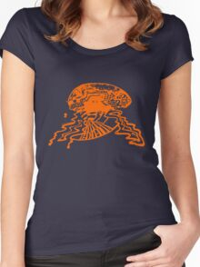 Brain storm - Orange Women's Fitted Scoop T-Shirt