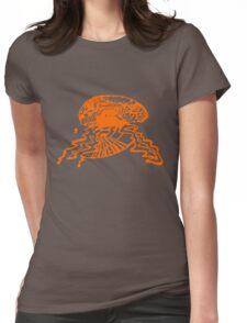 Brain storm - Orange Womens Fitted T-Shirt