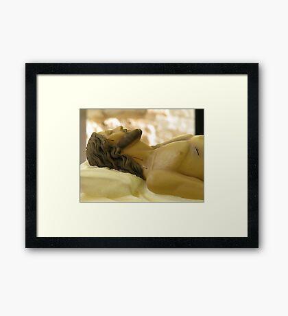 The Dead Christ Framed Print