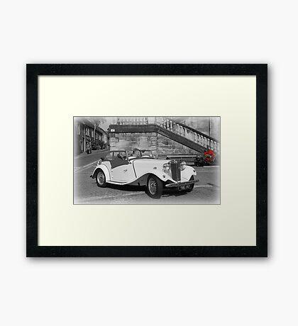 MG Sports Car Framed Print