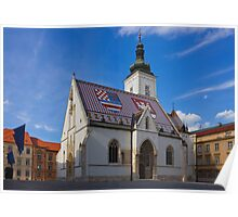 Saint Mark's Church in Zagreb Croatia Poster