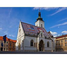 Saint Mark's Church in Zagreb Croatia Photographic Print