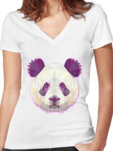 Panda Bear Animals Gift Women's Fitted V-Neck T-Shirt
