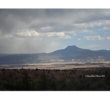 Pedernal in the Sky's Shroud, Northern New Mexico Photographic Print