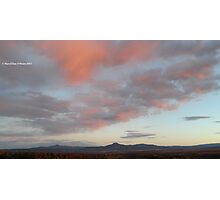 Colors over Pedernal at Sunset, Northern New Mexico Photographic Print