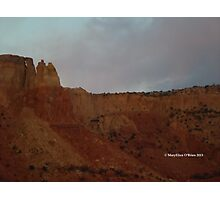 Evening light at Ghost Ranch, Abiquiu, New Mexico Photographic Print
