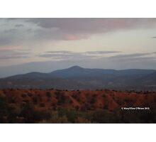 Sundown at Ghost Ranch Photographic Print