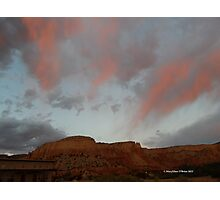 Sundown at Ghost Ranch II Photographic Print
