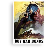 Uncle Sam Buy War Bonds Canvas Print