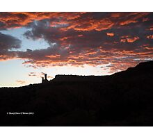 Sundown at Chimney Rock, Ghost Ranch, New Mexico Photographic Print