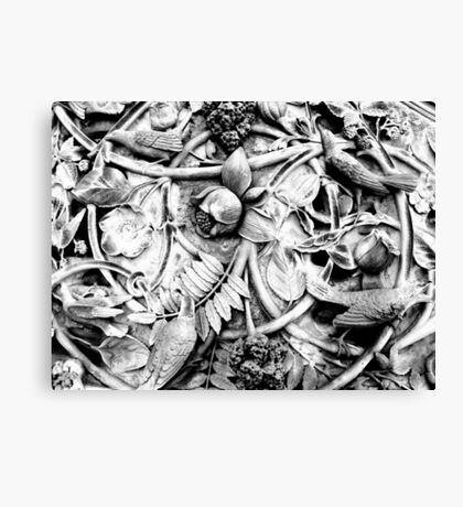 Ornate Stone Relief at Bethesda Fountain, Central Park Canvas Print