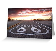 The Colors of Route 66. Greeting Card