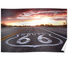 The Colors of Route 66. Poster