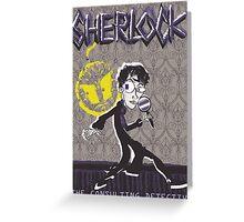 NOODLE BOY SHIRT!!!!!!!!!!!! ft. Sherlock Greeting Card