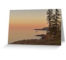 Sunset on Silver Bay Greeting Card