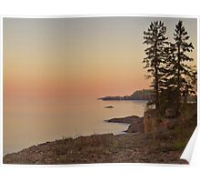 Sunset on Silver Bay Poster