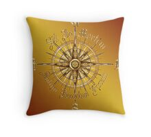 "PC Gamer's Compass - ""Death is Only the End of the Game"" Throw Pillow"