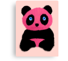 Pink blue-eyed panda Canvas Print