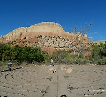 Labyrinth at Ghost Ranch by Marielle O'Brien