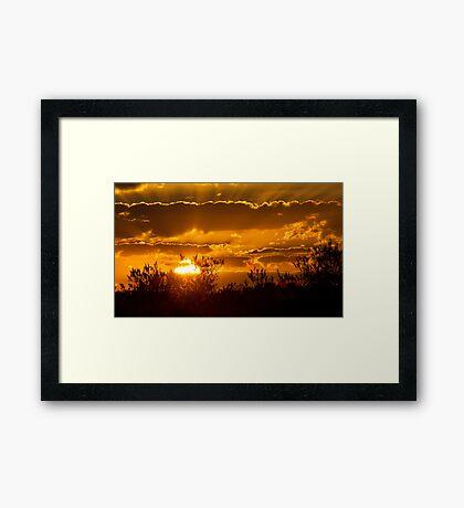 Toulon Sunset Framed Print