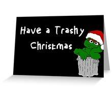 Oscar the Grouch at Christmas (dark) Greeting Card