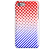 Red and Blue Dots and Stripes iPhone Case/Skin