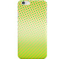 Orange and Green Dots and Stripes iPhone Case/Skin