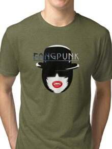 Fangpunk English Bowler Hat T Shirt Tri-blend T-Shirt
