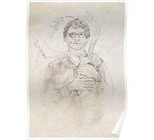 Will Graham portrait / sketch Poster