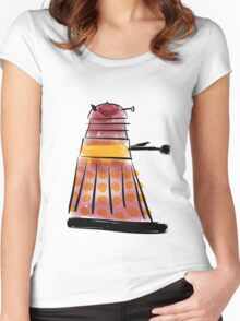 Red Dalek (side profile) Women's Fitted Scoop T-Shirt