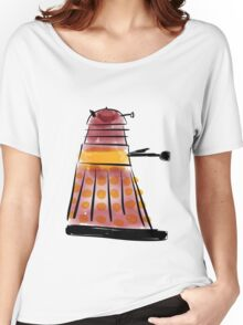 Red Dalek (side profile) Women's Relaxed Fit T-Shirt