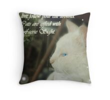 Catsight Throw Pillow