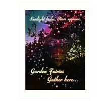 Fairy Poem Art Print
