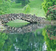 Stone Bridge Over Pond by GysWorks