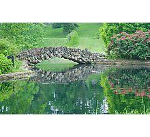 Stone Bridge Over Pond Photographic Print