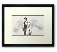 Castiel portrait sketch / SUPERNATURAL Framed Print