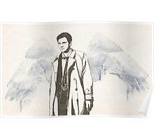 Castiel portrait sketch / SUPERNATURAL Poster