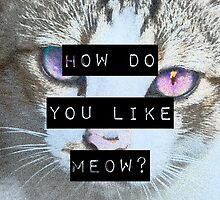 """HOW DO YOU LIKE MEOW"" Case - Cat by objThom"