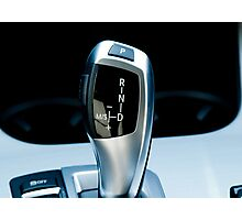Luxury Car Gear Shifter Photographic Print