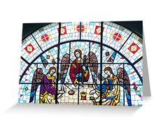 Jesus and Apostles Stained Glass Window Greeting Card