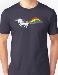 Grunge rocket rainbow unicorn space dust Unisex T-Shirt