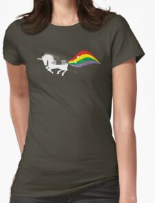 Grunge rocket rainbow unicorn space dust T-Shirt