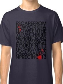 John Carpenter's Filmography in Typography Classic T-Shirt