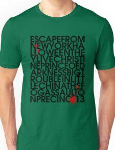 John Carpenter's Filmography in Typography Unisex T-Shirt