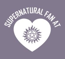 SUPERNATURAL FAN AT HEART - WHITE TEXT by thischarmingfan