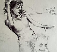 Piggy Back study sketch..  by John Dicandia  ( JinnDoW )