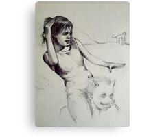 Piggy Back study sketch..  Canvas Print