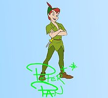 Peter Pan Autograph  by emilyg23